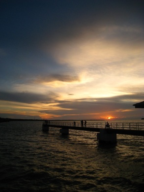 Warm hues welcomed us to the famous Bagan Datoh jetty