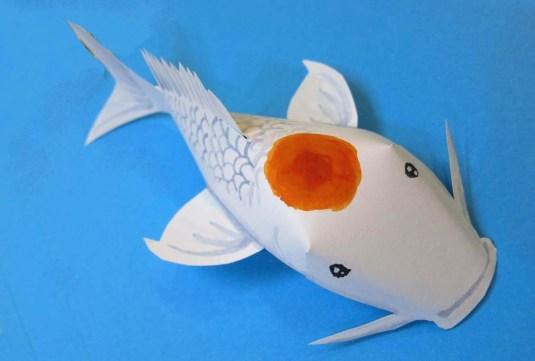 Tadaa!!! The completed Koi fish!