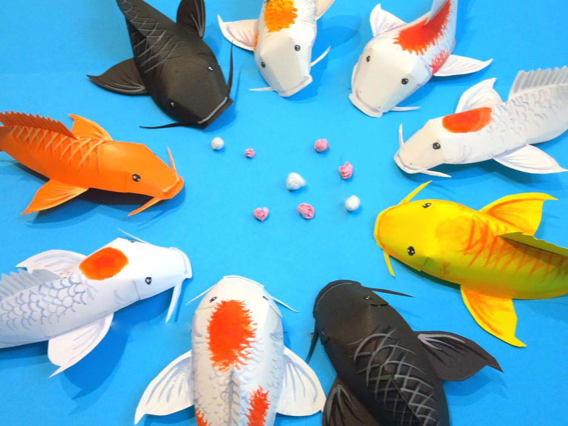 Fold some fun into this chinese new year decoration with for Koi fish family